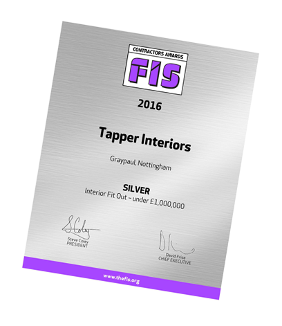 Tapper Interiors FIS Award