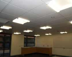 Tapper Interiors - John Colet School Ceiling and partitions
